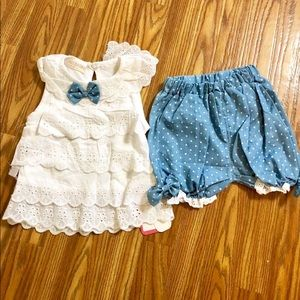 Other - Lace and shorts outfit